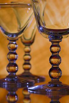 Free Wine Glasses On Orange Background Stock Image - 18232581
