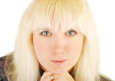 Free Portrait Woman Blonde Stock Photography - 18233312