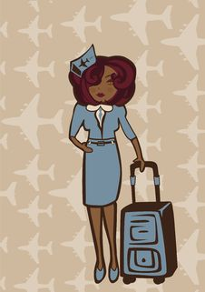 Free Stewardess Royalty Free Stock Image - 18233976