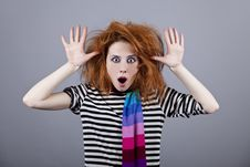 Free Angry Girl With Funny Hair. Stock Photos - 18234333