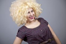 Free Funny Girl In Wig. Stock Photos - 18234643