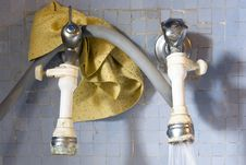 Dirty Tap In The Kitchen Stock Photography