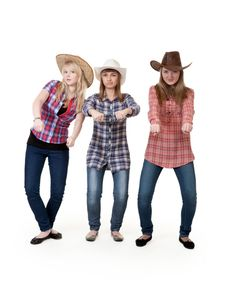 Free Three Girls In Hats Stock Photos - 18234883