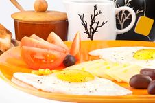Free Closeup With Delicious Breakfast Stock Images - 18234884