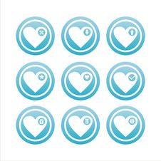 Free Blue Hearts Signs Royalty Free Stock Images - 18234889