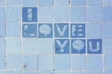 Free I Love You On The Tiles Royalty Free Stock Images - 18234909