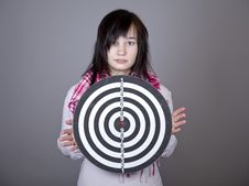 Free Girl With Darts. Royalty Free Stock Images - 18235089