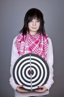 Free Girl With Darts. Stock Images - 18235094