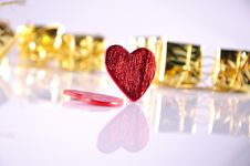 Free Heart And Gift Stock Photography - 18235112