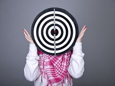 Free Girl With Darts. Royalty Free Stock Image - 18235116