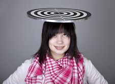 Free Girl With Darts. Stock Photo - 18235130