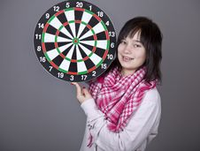 Free Girl With Darts. Royalty Free Stock Photos - 18235148