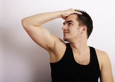 Free Attractive Young Man Royalty Free Stock Photography - 18235217