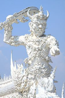 Free Thai Giant Statue, Wat Rong Khun Royalty Free Stock Photo - 18235685