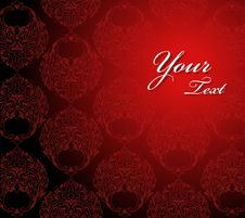 Free Red Ornament On Wallpaper Stock Photo - 18235860