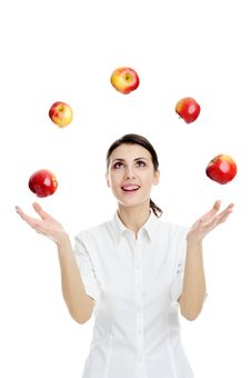 Free Red Apples Royalty Free Stock Images - 18236219