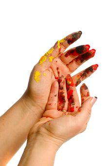 Free Painter S Color Hand Stock Image - 18236281