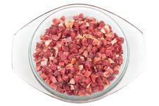 Free Fresh Chopped Bacon Royalty Free Stock Photography - 18236547