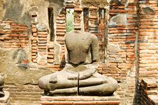 Free Ancient Buddha Stone Statue Stock Image - 18237271