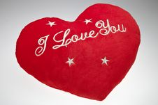 Free The Red Valentine`s Pillow Stock Photography - 18237502