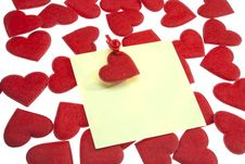Free The Post It W Clothes Pin And Valentine`s Heart Stock Photos - 18237763