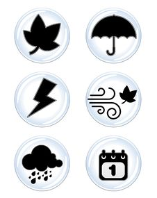 Free Weather Icon Royalty Free Stock Photo - 18238135