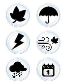 Weather Icon Royalty Free Stock Photo