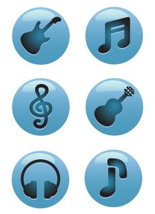 Free Music Icons Stock Photography - 18238182