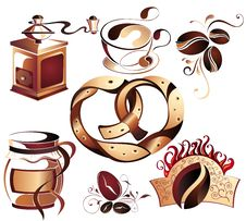 Free Big SET Of Vector Coffee,tea Elements Stock Images - 18238214