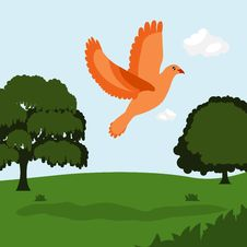 Free Bird With Nature Royalty Free Stock Image - 18238216