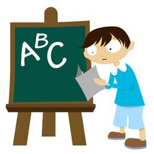 Free Student With Chalkboard Stock Photo - 18238400