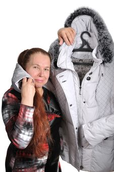 Free The Woman Has Bought A Jacket. Royalty Free Stock Images - 18238489