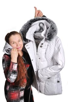 Free The Woman Has Bought A Jacket. Stock Images - 18238514