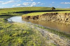 Meandering River Stock Image