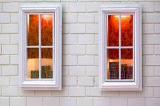 Free Pair Of White Window Displaying Some Gift Stock Photo - 18238810
