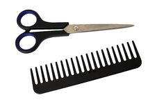 Free Scissors And Comb Royalty Free Stock Photography - 18238877