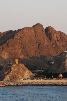 Free Setting Sun At Muscat Stock Photos - 18239093