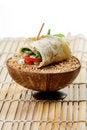 Free Veggie Wheat Roll Royalty Free Stock Photos - 18248628