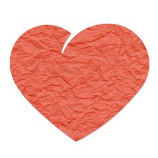 Red Paper Heart Royalty Free Stock Photography