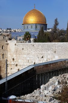 Free Western Wall And Dome Of The Rock Stock Photos - 18240383