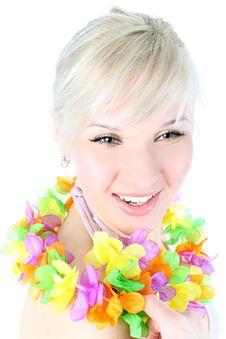 Free Girl In Hawaiian Flower Royalty Free Stock Photo - 18240675