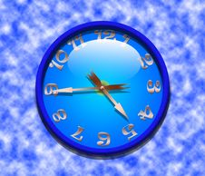 Free Classic Office Clock Royalty Free Stock Image - 18241386