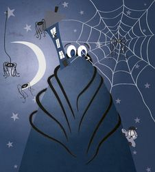 Free Spooky Spider Illustration Stock Images - 18242474