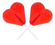 Free Hearts Shaped Lollipop Stock Photo - 18242550