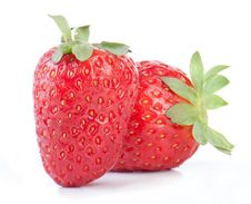 Free Two Strawberries Isolated Royalty Free Stock Photos - 18242588