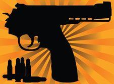 Free Correct Pistol And Cartridges Stock Photo - 18242650