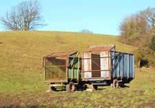 Free Old Farm Trailers Royalty Free Stock Images - 18242919