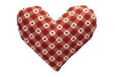 Free Stuffed Gingham Heart Stock Photo - 18243090