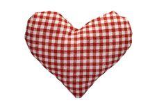 Free Stuffed Gingham Heart Stock Photo - 18243100
