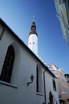 Free Tallinn Old City Part, A Church Royalty Free Stock Photography - 18243167